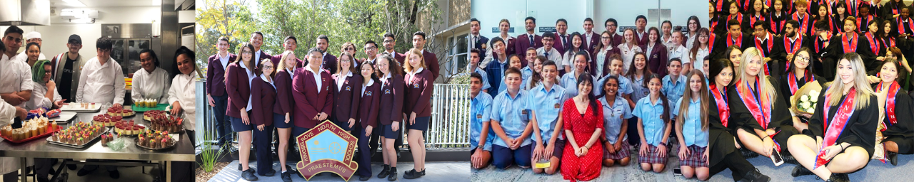 Kingsgrove North High School students in their uniforms